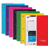 Staples Brand 1 Subject Poly Cover Notebook
