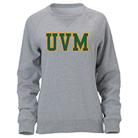 Ouray Ladies UVM Tackle Twill Crewneck