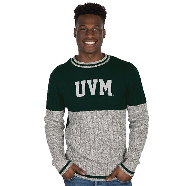 Bruzer UVM Cable Crew Sweater (SKU 125481701059)