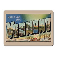 Greetings From Vermont Wooden Magnet