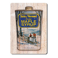 Pure Maple Syrup Can Wooden Magnet
