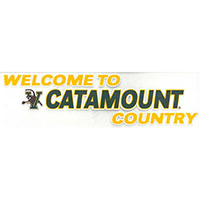 Welcome To Catamount Country Color Shock Decal