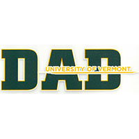 Dad University Of Vermont Color Shock Decal