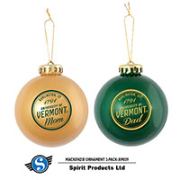 Mom/Dad University Of Vermont Ornament 2-Pack