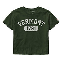 League Ladies Arched Vermont Clothesline Cropped Tee