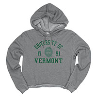 Blue 84 Ladies University Of Vermont Cropped Hoodie