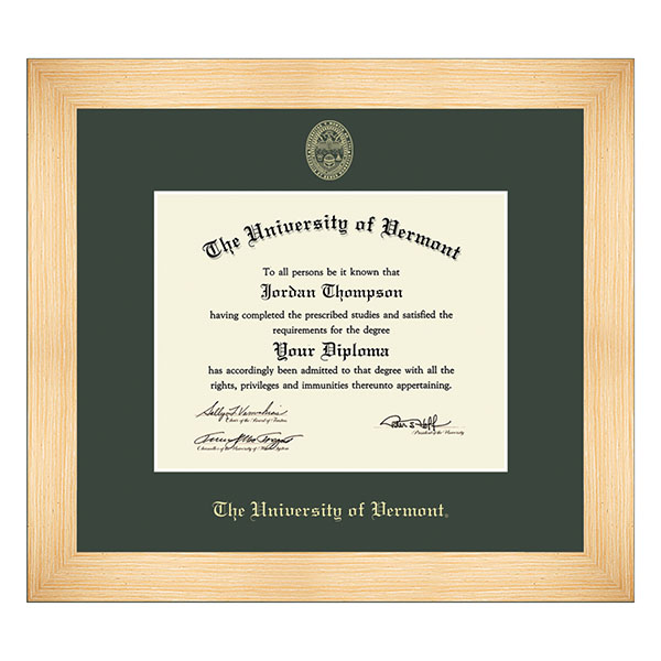 Embossed Natural Wood Diploma Frame (SKU 125907041109)