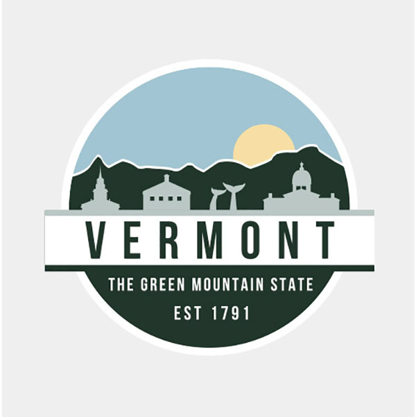 Uscape Green Mountain State Vinly Decal (SKU 125940611085)