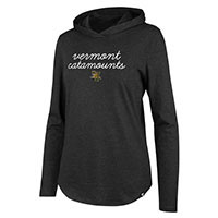 '47 Brand Women's Vermont Catamounts Long Sleeve Club Hooded T-Shirt