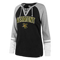 '47 Brand Women's Vermont V/Cat Lace Up T-Shirt