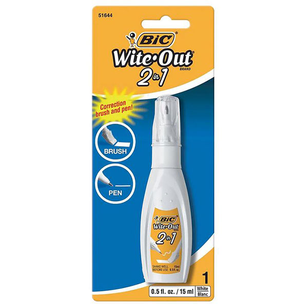 Bic Wite-Out 2-In-1 Brush/Pen (SKU 126131371270)