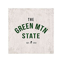 Green Mountain State Wooden Magnet
