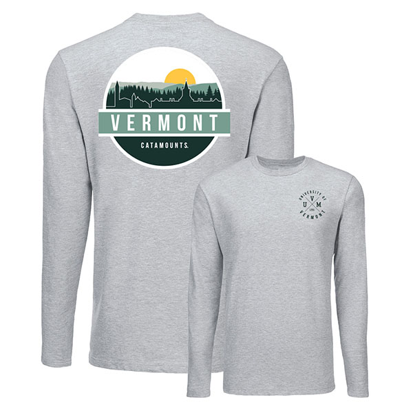 Uscape Uvm Crossed Lines Skyscape Long Sleeve T-Shirt (SKU 126227951067)