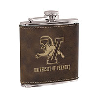Faux Leather V/Cat Spellout Flask