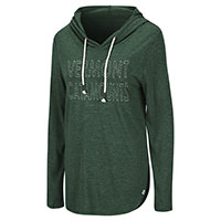 Colosseum Ladies Vermont Catamount Dual-Blend Hooded Long Sleeve Tee