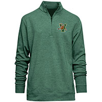 Camp David V/Cat Textured 1/4 Zip