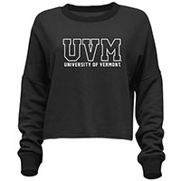 Camp David Ladies UVM Spellout Cropped Crew