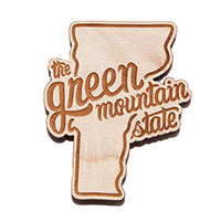 The Green Mountain State Wooden Magnet