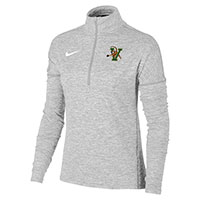 Nike Women's V/Cat Heather Element 1/2 Zip Top