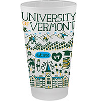 Julia Gash UVM Campus Pint Glass