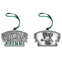 Pewter Alumni Spellout Ornament