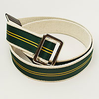 Gells Green & Gold Twin Stripe Belt