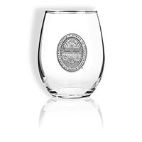 Pewter Seal Stemless Wine Glass