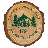Wooden Green Mountain State Magnet