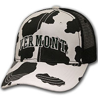 Ouray Cow Print Vermont Meshback Hat