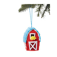 MHF Barn Felt Ornament